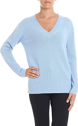 360 Cashmere Light blue cashmere sweater