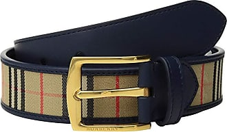 Burberry Gray 35 1983 Check Belt (Ink Blue) Mens Belts