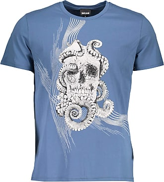 Just Cavalli S01GC0532 T-Shirt Short Sleeves Men Azzurro 523 XL