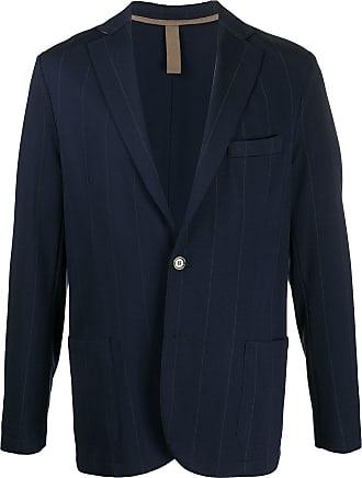 Eleventy button down striped blazer - Blue