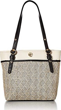 Anne Klein Woven Dreams Pocket Tote, Black Multi