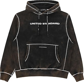 United Standard United standard Logo acid hooded sweatshirt BLACK XL