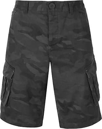 Firetrap Mens BTK Shorts Button Fly Closure (Navy Camo, Large)