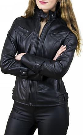 Leather Trend Italy V173 - Giacca Donna in Vera Pelle colore Nero Morbida