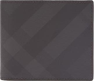 Burberry London-check E-canvas Bi-fold Wallet - Mens - Dark Grey