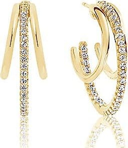 Sif Jakobs Jewellery Ohrringe Ozieri - 18K vergoldet mit weißen Zirkonia