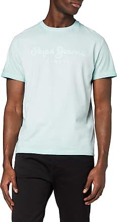 Pepe Jeans London Mens West Sir T-Shirt, Blue (Dark Acqua 518), Large