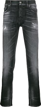 7 For All Mankind Calça jeans skinny Ronnie cintura média - Preto