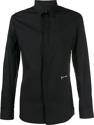Givenchy Camisa com logo bordado - Preto