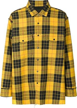 WWWM - What We Wear Matters Camisa xadrez mangas longas - Amarelo