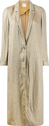 Forte_Forte metallic single breasted coat - GOLD