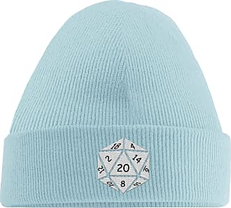 HippoWarehouse They See Me Rolling They Hating Embroidered Beanie Hat Winter Essential Woolly hat Pastel Blue