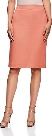 oodji Collection Womens Classic Pencil Skirt, Pink, UK 10 / EU 40 / M