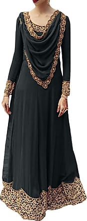 Mxssi Women Middle East Dress Long Sleeve Loose Fit Robes Elegant Vintage Maxi Dress Muslim Ethnic Evening Gown Islamic Dubai Arabic Abaya Black
