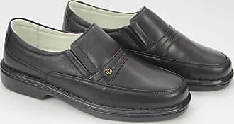Generico Sapato social masculino, semi- ortopédico em legitimo couro mestiço(pelica), solado de borracha modelo CR-1003 (44, CR1003 Mestiço Preto)