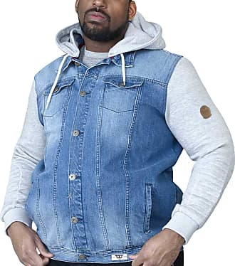 Duke D555 Mens King Size Willie Hooded Jacket Big Tall Quilted Jersey Hoody Coat