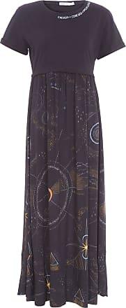 Dress To Vestido T-shirt Estampa Luar - Preto