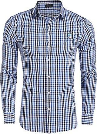 Herren Hemd Karriert Grün Blau Kurzarm Langarm Herren Hemden