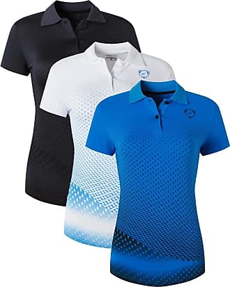 Jeansian Womens 3 Packs Sport Quick Dry Polo T-Shirt SWT251 PackC XL