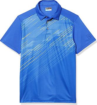 PGA TOUR Mens Standard Short Sleeve Geo Ombre Printed Polo Shirt