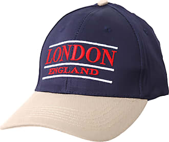 Universal Textiles London England Embroidered Baseball Cap (Blue Beige) (One Size Fits All) (Navy/Beige/Red/White)