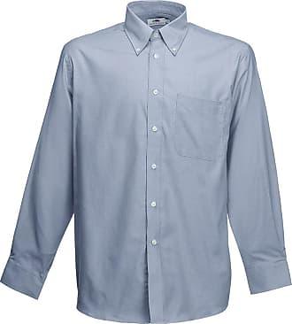 Fruit Of The Loom Mens Long Sleeve Shirt Casual, Grey (Oxford Grey Oc), 3XL