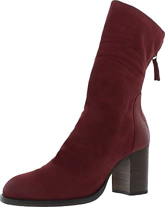 Free People Elle Block Heel Boot Wine 40 (US Womens 10)