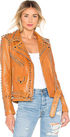 5b8ce4320c Understated Leather Western Dome Easy Rider Jacket in Brown