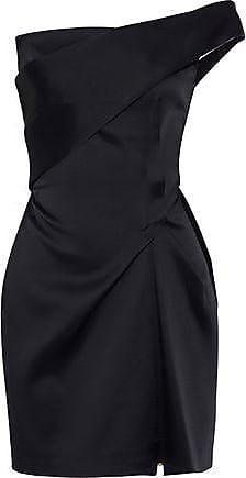 ac3fe419ec3 Roland Mouret Roland Mouret Woman Carleton One-shoulder Gathered Satin Mini  Dress Black Size 12