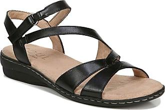 Naturalizer Womens Bobbie Sandal, Black Leather, 5.5