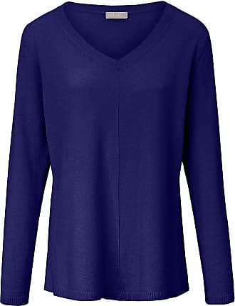 include V-Pullover aus 100% Premium- Kaschmir include blau