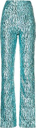 16Arlington Calça cintura alta com aplicação - Azul