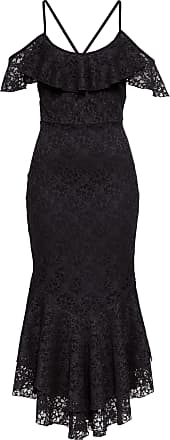 BODYFLIRT boutique Dam Spetsklänning med volang i svart utan ärm - BODYFLIRT  boutique 143538a043b71