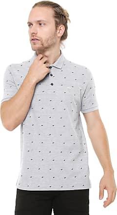 a453e697c420d Ellus Camisa Polo Ellus Reta Estampada Cinza