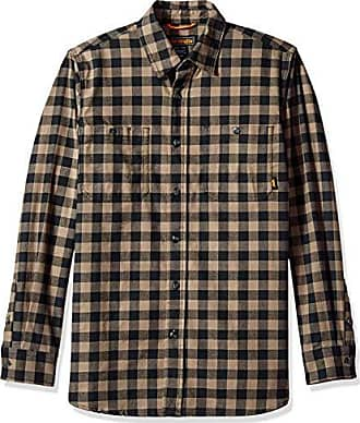 9794e186 Walls Mens Midweight Brushed Flannel Shirt with Stretch, Olive Barrel  Buffalo, Extra Large