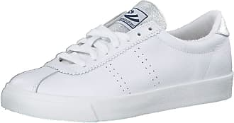 Superga 2843 Comflealamew S00C4F0915 Leather Textile Womens Trainers - White Grey Silver - 41