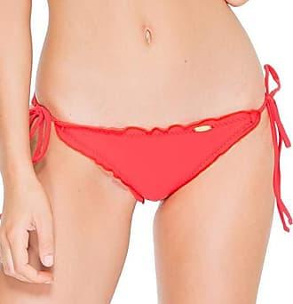 Luli Fama Womens Cosita Buena Wavy Tie-Side Brazilian Bikini Bottom, Girl On Fire, L
