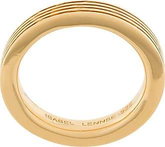 Isabel Lennse Anel canelado 4x2 - Dourado