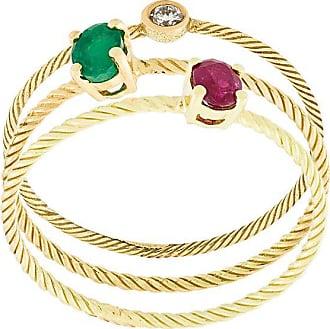 Wouters & Hendrix stone embellished set of rings - Metallic
