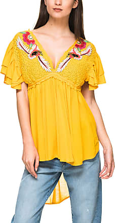 Free People Womens Fiesta Nueva Tunic Yellow Small
