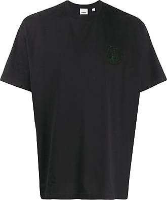 Burberry Camiseta TB com logo e strass - Preto