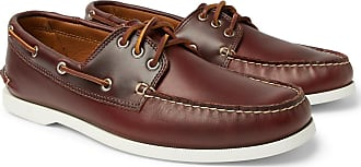 Quoddy Downeast Leather Boat Shoes - Dark brown