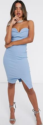 Vesper Korte bandeau-jurk in blauw