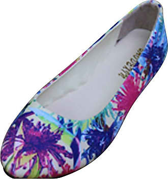 Vdual Women Handmade Ethnic Flats Round Toe Colorful Loafers Shoes Slip On Ballet Pumps Summer Flat Shoes for Womens UK 2.5-UK 8 Beige