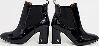 Kurt Geiger Kurt Geiger - Rylan - Ankle Boots aus schwarzem Lackleder