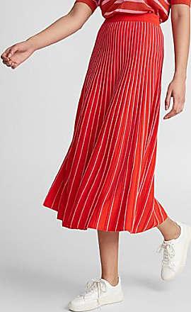 Icone Embossed stripe knit skirt