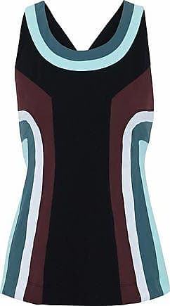 No Ka'Oi No Ka oi Woman Moku Color-block Tech-jersey Top Black Size 00
