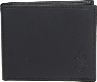 U.S.Polo Association U.S. POLO ASSN. Gary Horizontal Wallet with Coin Holder Black
