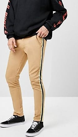 21 Men American Stitch Striped-Trim Pants at Forever 21 Khaki/multi