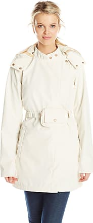 Ilse Jacobsen Womens Asymmetrical Zip Raincoat with Hood, Cream, 34